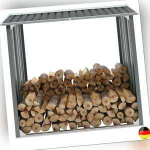 Brennholzlager Metall Brennholzunterstand Holz Regal Lager Kaminholz Unterstand