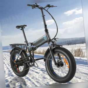 "500W Elektrofahrrad 20""snowbike E-BIKE Fatbike power bikes Sandstrand 10,4AH NEU"