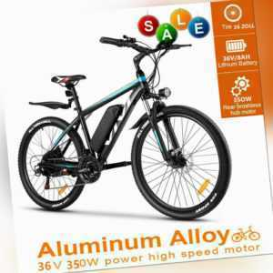 Vivi 26'' Elektrofahrrad Herren Mountainbike E-Bike Pedelec 350W 36V/10.4H AKKU