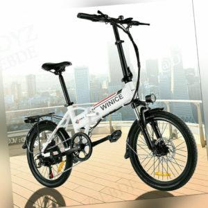 350W Motor Elektrofahrrad 20 Zoll Faltbares E-Bike Mountainbike Klapprad Pedelec