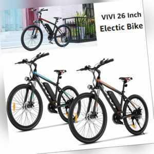 26 Zoll E-Bike Stadt Elektrofahrrad 350W 10.4Ah Pedelec Shimano 21-Gang Efahrrad