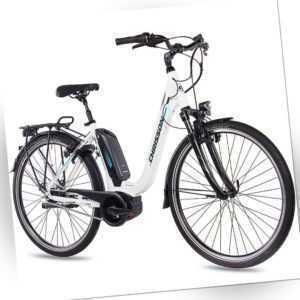 28 Zoll E-Citybike Damenrad CHRISSON E-CASSIOPEA 7G Nexus BOSCH 400Wh weiss