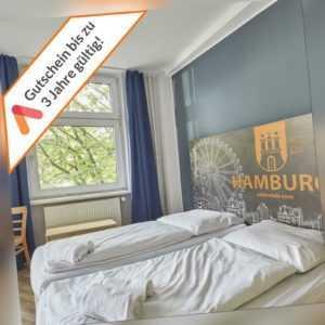 Kurzreise Hamburg Reeperbahn A&O Hotel 3 Tage für 2 Personen Frühstück Gutschein