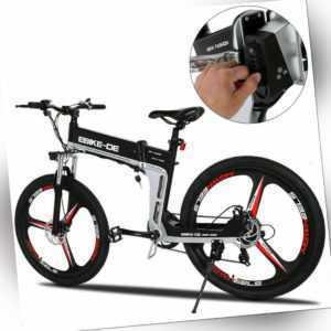 Elektrofahrrad Electric Bikes Mountainbike 26'' Klapprad Citybike 250W Unisex@DE
