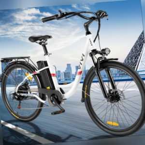 Elektrofahrrad Mountainbike 26 Zoll Ebike 350W Shimano Pedelec 7-Gänge DHL