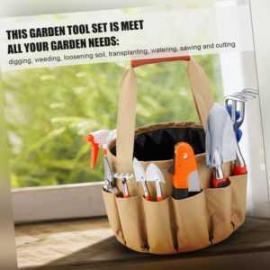 GartenSet Tragbares Gartenwerkzeug Eimer Stoffbeutel 10 Stück Gartengeräte N2X6
