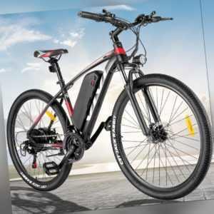 27.5 Zoll Elektrofahrrad Mountainbike Ebike 350W Shimano Pedelec 21Gänge 35 km/h