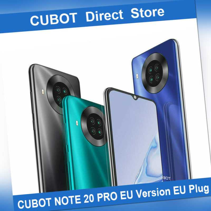 CUBOT Note 20 pro Smartphone 6,5 Zoll 8+128GB Handy 4200mAh NFC Face ID Android