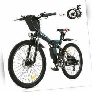 Klapprad E-Bike Mountainbike,26 Zoll Elektrofahrrad Faltrad Fahrrad 350W E 278