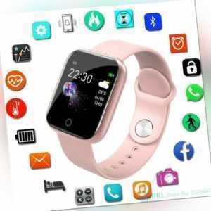 Bluetooth Smart Uhr Frauen Männer Smartwatch Für Android IOS Fitness Tracker DHL