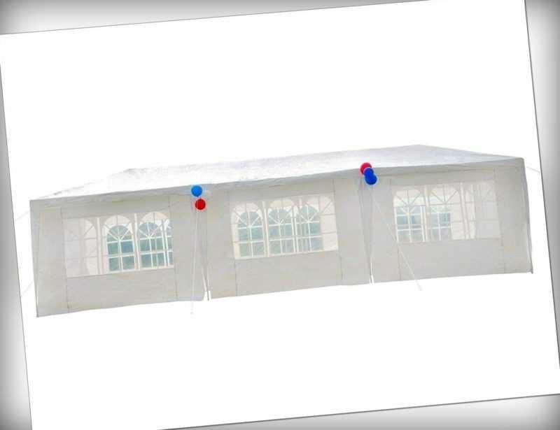3x9m Pavillon mit 110g/m² PE,8 Seiten Partyzelt,UV-Schutz Gartenzelt für Fest