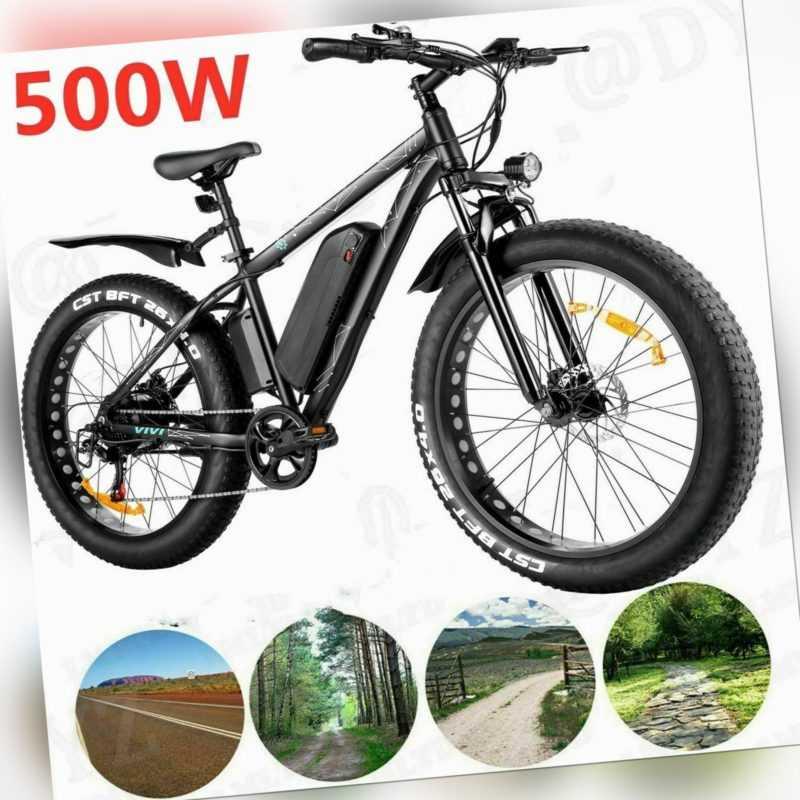 26'' Elektrofahrrad E-bike Mountainbike Citybike E-Fahrrad Power  Fat Tire bike
