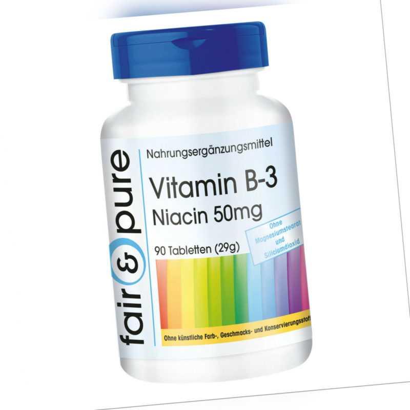 Vitamin B-3 Niacin 50mg Fair & Pure