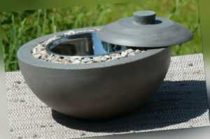 Feuerschale, anthrazit, aus Beton (für Bio Ethanol) Beton Deko Balkon Handmade