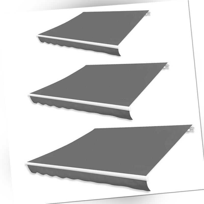 vidaXL Markisenstoff Sonnenschutz Markisentuch Anthrazit Segeltuch 3/4/5/6m Neu