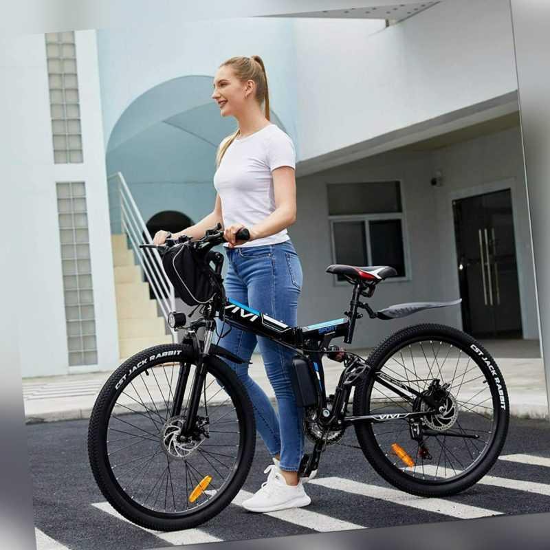 26''-Klapprad EBike Mountainbike Elektrofahrrad E-Pedelec 21Gang Citybike 350W``