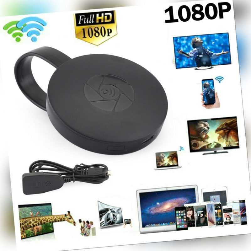 1080P G2 TV Stick Dongle Anycast Crome Cast HDM TV WiFi Wireless Empfänger DE