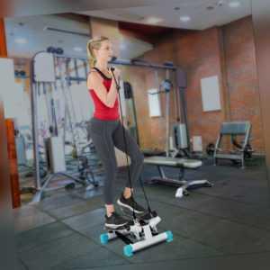 Swing Stepper Heimtrainer Fitnessbändern+Trainingscomputer Aerobic bis250lb DHL