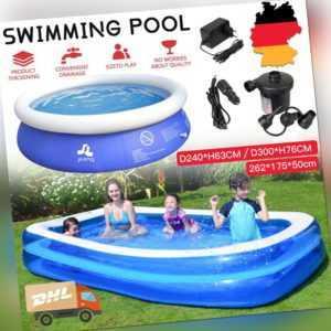 Schwimmbecken Planschbecken Aufblasbar Familienpool Kinderpool Schnelles Set DHL