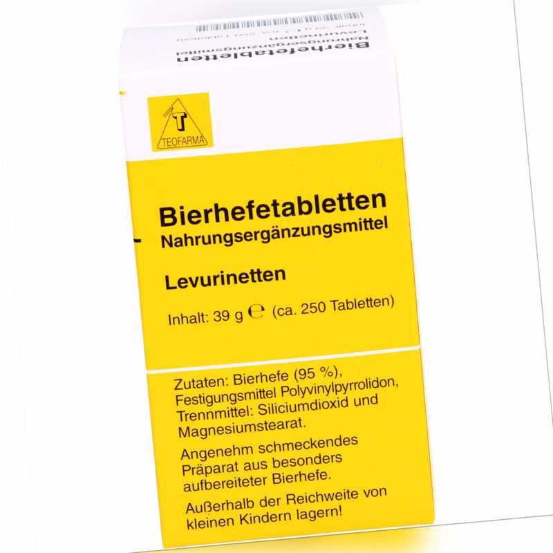 Teofarma Bierhefetabletten Leuvrinetten, 250 St. Tabletten 1352209