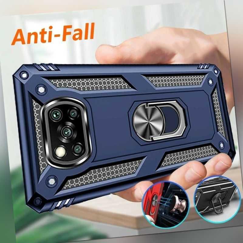Für Xiaomi Poco X3 NFC / Pro Hülle Stoßfest Ständer Handy Cover + Displayschutz