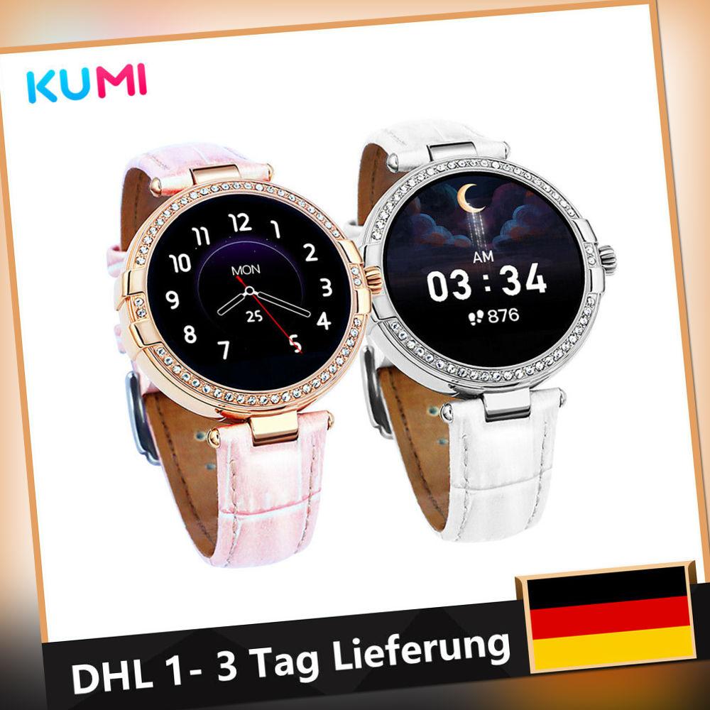 K17 Bluetooth Smartwatch Damen Fitness Tracker Sportuhr Wasserdicht Thermometer