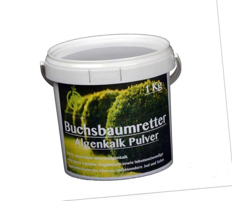 Algenkalk Pulver 1 kg Eimer / Buchsbaumretter / Das Original / mit ANLEITUNG