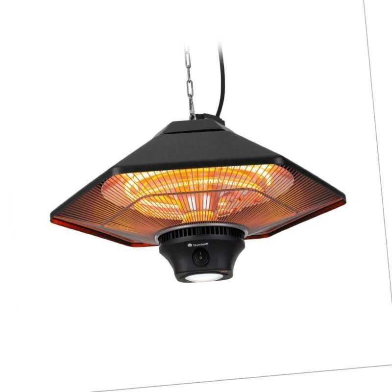 Heizstrahler Infrarot Terrassen Decken Elektroheizung 2000W LED Lampe schwarz