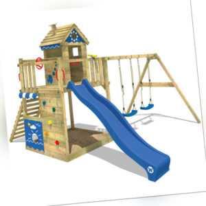 WICKEY Spielturm Stelzenhaus Smart Lodge 150 - Spielhaus mit Schaukel & Rutsche