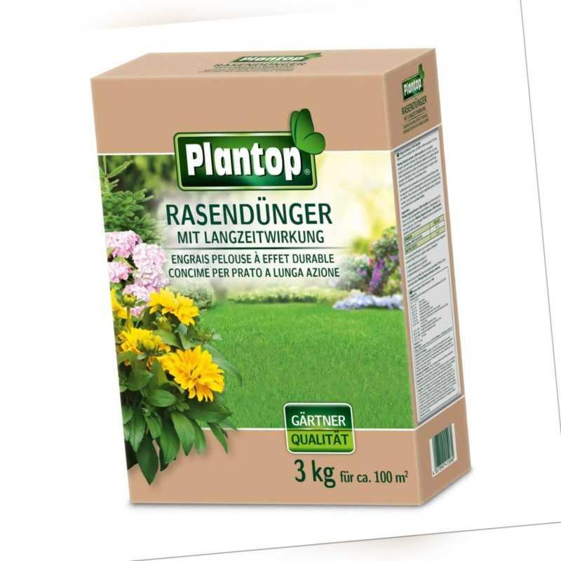 PLANTOP 3 kg Rasendünger Langzeitdünger
