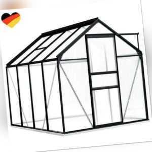 NEU Gewächshaus Anthrazit Aluminium 4,75 m³ Treibhaus Tomatenhaus Garten DHL