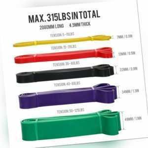 5X Pull-Up Fitnessbänder Klimmzug Support Band Fitnessband Klimmzugbänder DE