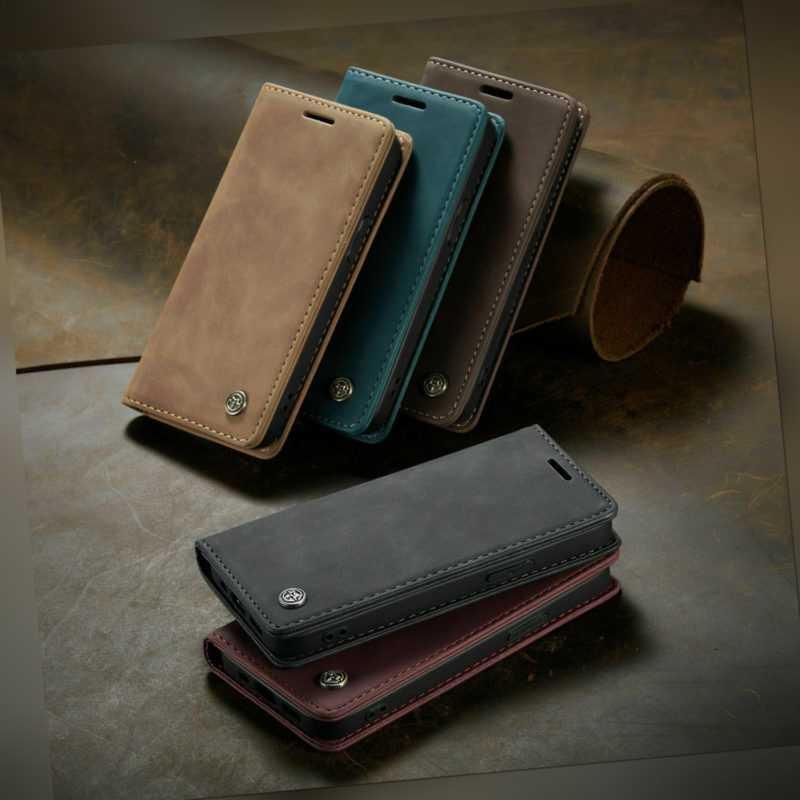 Leder Magnet Schutzhülle Wallet Klappbar für orig. Xiaomi & OnePlus Flip Case