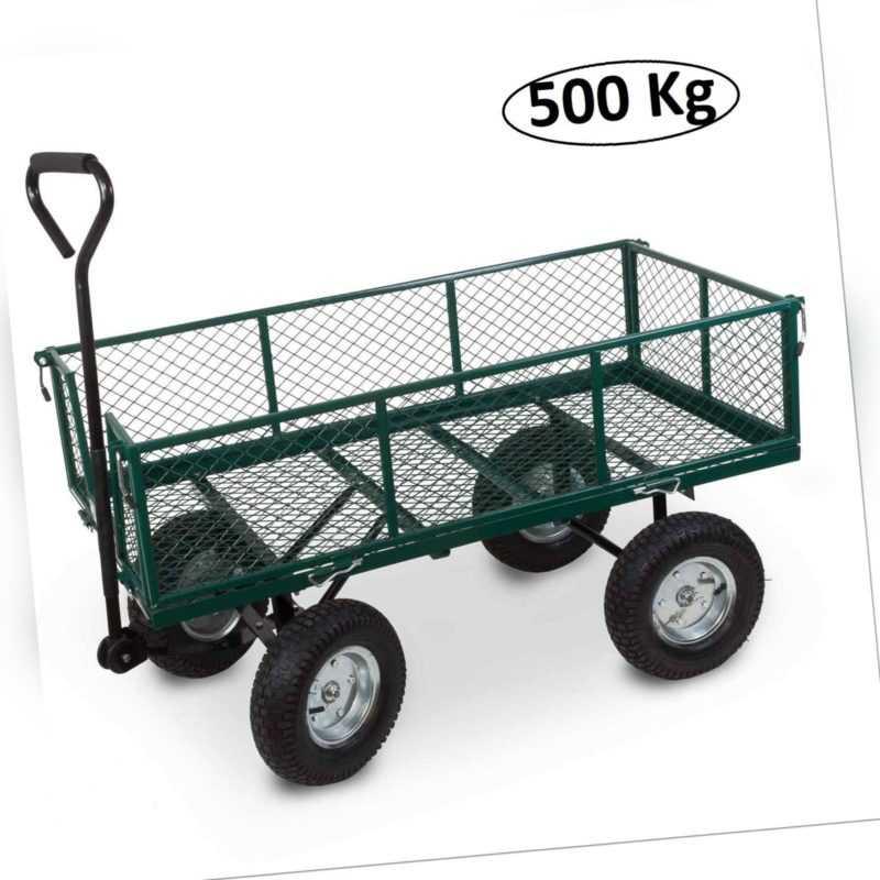 Handwagen XXL 500 Kg, Bollerwagen Klappbar Luftreifen Transportwagen Gerätewagen