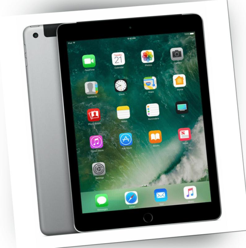 Apple iPad 5 Generation 2017 128GB A1823 9,7 Tablet Wi-Fi Cellular Spacegrau Top