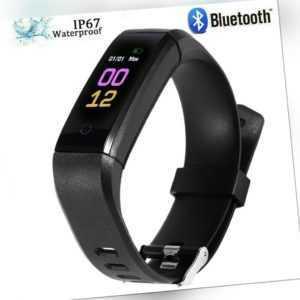 Neu Smart watch Fitness Tracker Sport Uhr Puls Armband Wasserdicht Bluetooth DE