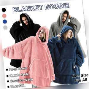 Unisex Warm Decke Sweatshirt Plüsch Hoodie Übergroße Nachtwäsche