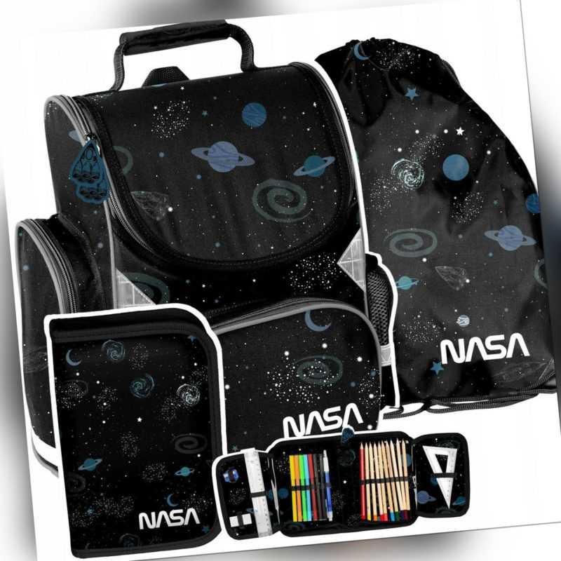 Set Schulranzen Rucksack Ranzen Tornister Federmappe Beutel NASA Jungen