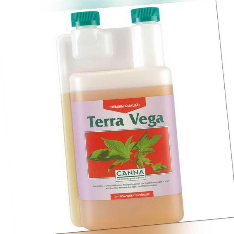 CANNA Terra Vega 1 Liter, NPK Stickstoff Dünger Wachstum für Erde