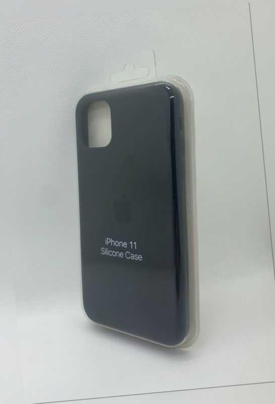 iPhone Silikon Case Schwarz für Original Apple iPhone 11 Schutzhülle Hülle