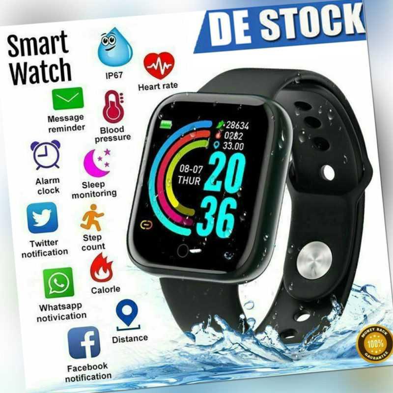 Bluetooth Smartwatch für Damen Herren Armbanduhr wasserdicht Android IOS NEU
