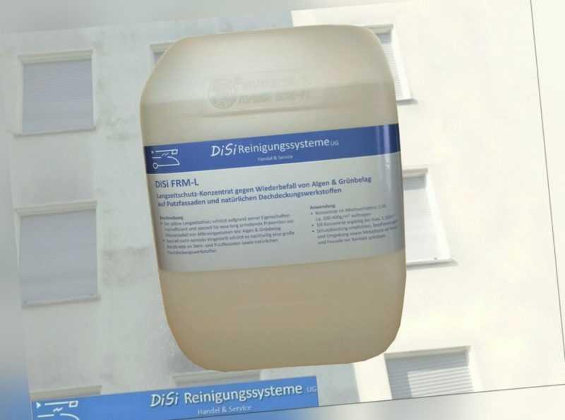 Fassadenreinigung Konzentrat 1:10 Langzeitschutz gegen Algen Wiederbefall FRM-L