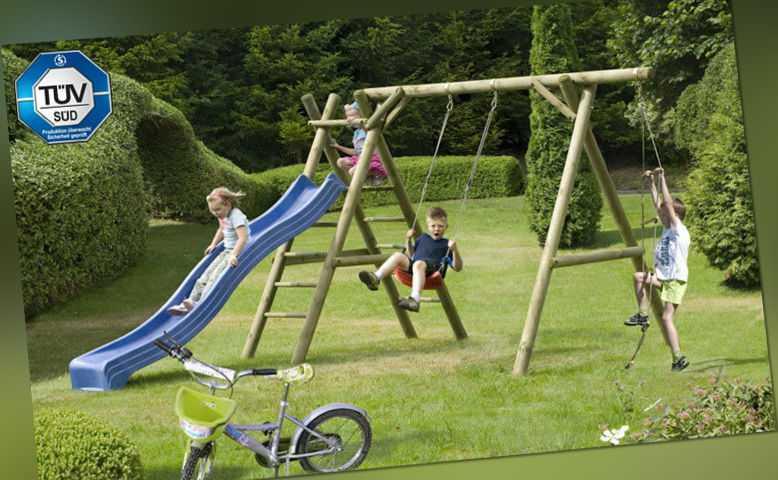 Schaukel Classic 5.1 Kinderspielgerät Palisaden Kinderschaukel Klettern Holz NEU