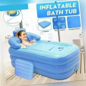 Aufblasbare Badewanne faltbar klappbar beweglich mit Luftpumpe für Erwachsene