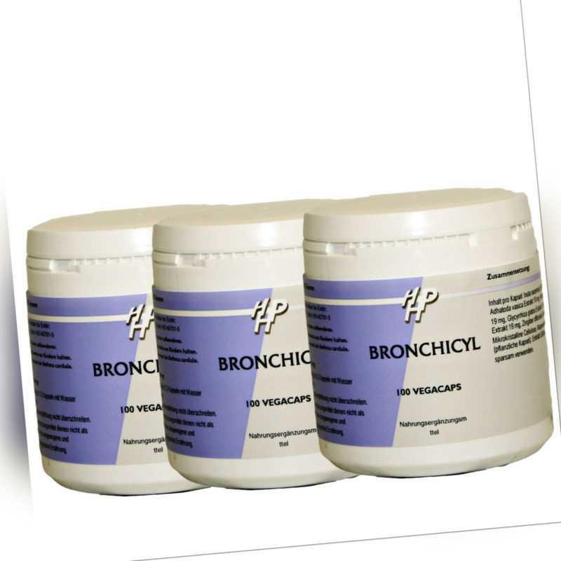 Bronchicyl Vorrat 300 Kapseln, Kräuter-Extrakte für die Atmung, Bronchien