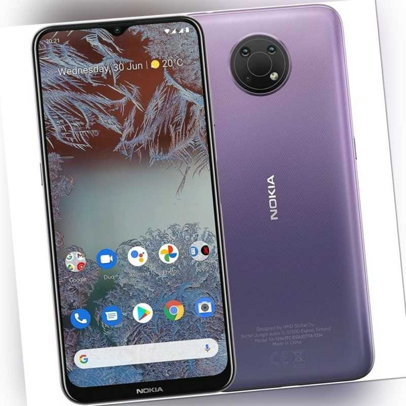Nokia G10 Smartphone lila 13 MP + 2 MP + 2 MP 6,51 Zoll / 16,53 cm...