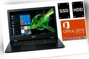 NOTEBOOK ACER ASPIRE 317 - OFFICE 2019 PRO - SSD + HDD - 17 ZOLL - WINDOWS 10