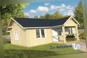 92 mm Ferienhaus ca. 1040x740 cm Blockhütte Holzhaus Gartenhaus Holzhütte Holz