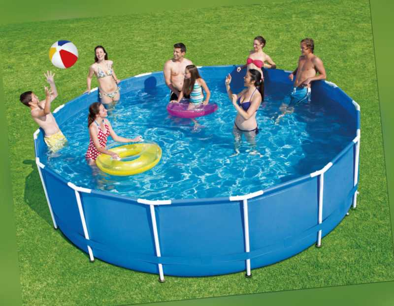 Frame Metal 366 x 84 Schwimmbecken Swimming Pool Schwimmbad QUICK Up