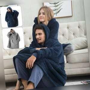 Unisex.Warm Decke Sweatshirt Plüsch Hoodie Übergroße Nachtwäsche